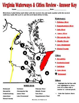 Virginia's Cities & Waterways Review (VS.2c)