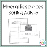 Mineral Resources Sorting Cards (SOL 4.9)