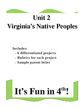 Virginia's Native Peoples Differentiated Projects