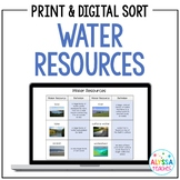 Water Resources Sorting Cards (SOL 4.9)