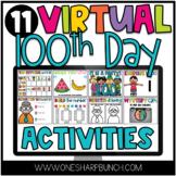 Virtual 100th Day of School Activities for Google Slides and Seesaw