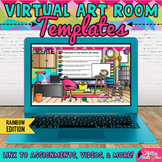 Virtual Art Room Templates: Editable Google Slides for Dis