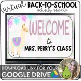 Virtual Back-to-School Activity Sheets | Llamas & Cactus |