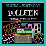 Virtual Birthday Bulletin Board Templates