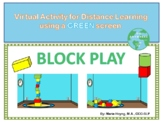 Virtual Block Play- Activity for the Green Screen