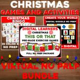 Virtual CHRISTMAS Bingo and Weeklong Activity BUNDLE - NO