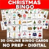 Virtual CHRISTMAS Bingo for Digital or In-Class use Google