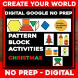 Virtual CHRISTMAS Digital NO PREP Google Slides - Pattern