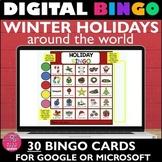 Virtual CHRISTMAS HOLIDAYS Games Bingo