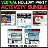 Virtual Christmas Party Centers BUNDLE | Google
