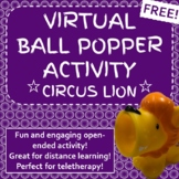 Virtual Circus Lion Popper Interactive PowerPoint for Dist