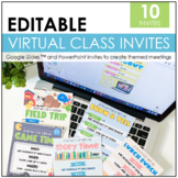 Virtual Class Invites | PowerPoint and Google Slides™ | Di