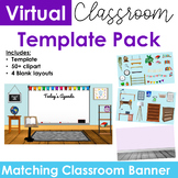 Virtual Classroom & Banner Template Pack #1 (Editable)