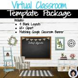 Virtual Classroom & Banner Template Pack#10 Rustic Farmhou