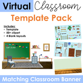 Virtual Classroom & Banner  Template Pack #2 (Editable)