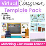 Virtual Classroom & Banner Template Pack #3 (Editable)