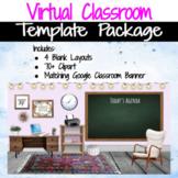 Virtual Classroom & Banner Template Pack #4 (Editable)