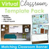 Virtual Classroom & Banner Template Pack #5 (Editable)