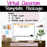 Virtual Classroom & Banner Template Pack #6  (Editable)