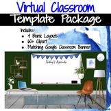 Virtual Classroom & Banner Template Pack #7 (Editable)