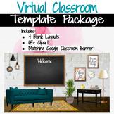 Virtual Classroom & Banner Template Pack #8 Mid Century Modern