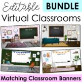 Virtual Classroom BUNDLE Contemporary & Trendy Templates Editable