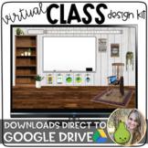 Virtual Classroom Design Kit | Distance Learning | Google Slides
