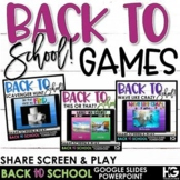 Back to School Activities | Beginning of the Year Classroom Games