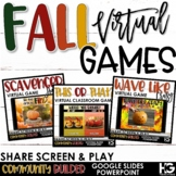 Fall Classroom Activities and Games