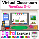 Virtual Classroom Numbers 0-10 | For Google Slides™ | With Links
