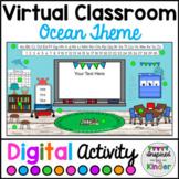 Virtual Classroom Ocean Decor Editable Board   For Google Slides™   With Links