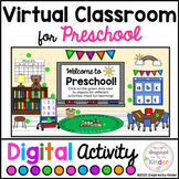 Virtual Classroom Preschool | For Google Slides™ | With Links