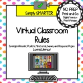 Virtual Classroom Rules Emergent Reader, Posters, AND Inte