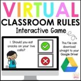 Virtual Classroom Rules Game   Interactive Google Slides  