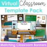 Virtual Classroom Templates & Banners (Editable - Set of 5)