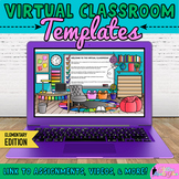 Virtual Classroom Templates Editable Google Slides for Dis