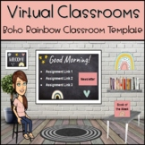 Bitmoji Virtual Classroom Template Boho Rainbow