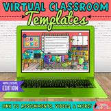 Virtual Classroom Templates on Google Slides for Middle Sc