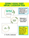 Virtual Classroom Tour Editable Google Slides