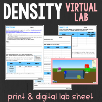Virtual Density Lab