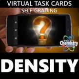 Virtual Density Task Cards (Distance Learning & Self-Grading)