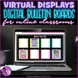 Virtual Digital Bulletin Display Boards for Distance Learn