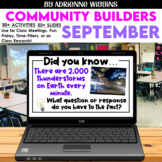Virtual & Distance Learning COMMUNITY BUILDERS: SEPTEMBER