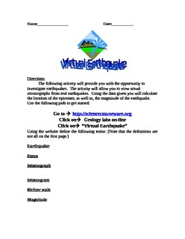 Virtual Earthquakes