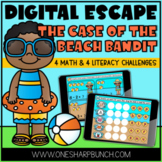 Virtual End of the Year Beach Day Digital Escape Room Activities