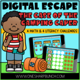 Virtual End of the Year Camping Theme Day Digital Escape Room Activities