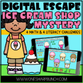 Virtual End of the Year Ice Cream Day Digital Escape Room