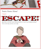 Virtual Escape Room (Home Alone For Christmas Themed Template)