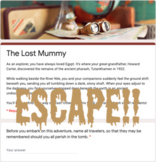 Virtual Escape Room (Mummy Themed Template)