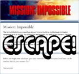 Virtual Escape Room (Secret Agent Themed Template)